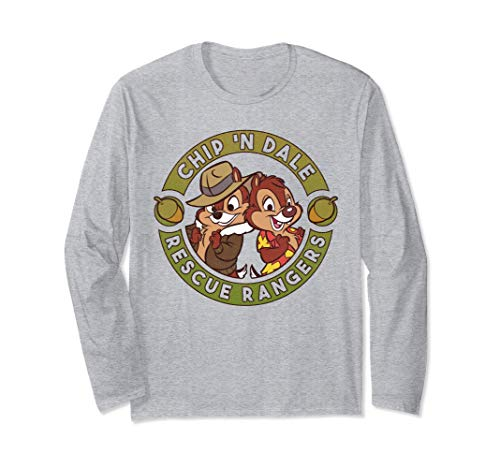 Disney Chip 'N Dale Rescue Rangers Logo Maglia a Manica