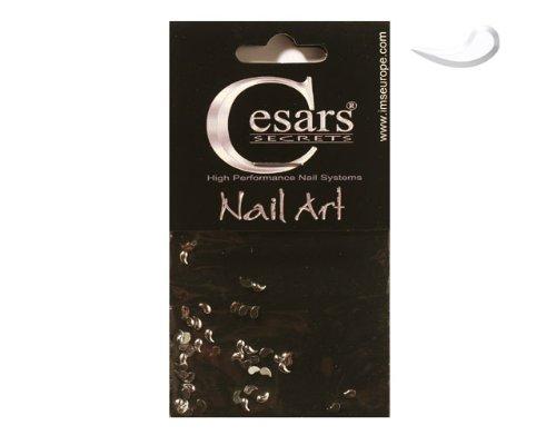 Cesars Nail Art Curve Tear Drops argent