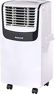 Honeywell MO08CESWK Compact 3-in-1 Portable Air Conditioner w/ Remote Control, Up to 350 Sq. Ft., White/Black