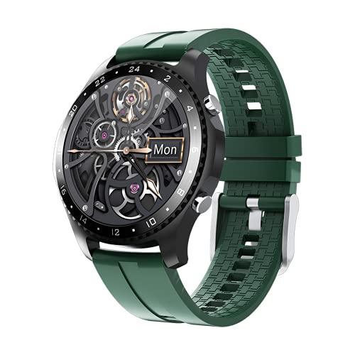 Smartwatch para Android iOS, Reloj Inteligente Impermeable IP67 con Pulsómetro, Llamadas Bluetooth, Monitor de Sueño, Podómetro Pulsera Smart Watch Hombre Mujer Reloj Deportivo,Green
