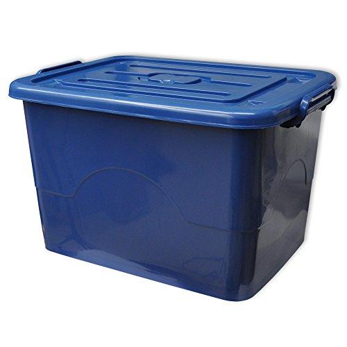 1 x Spielzeugbox mit Deckel in blau - 95 Liter - Aufbewahrungsbehälter