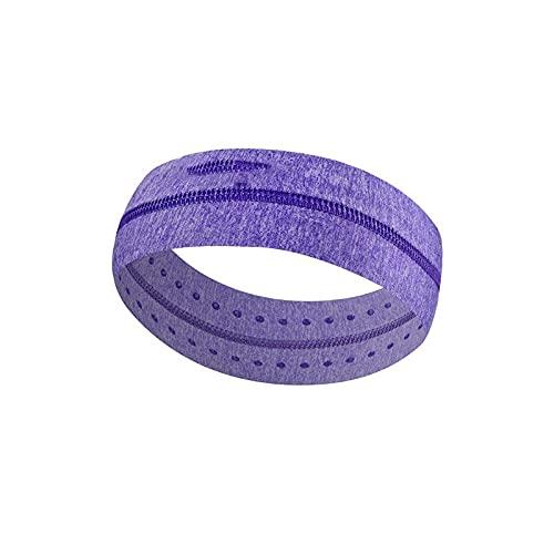 Wzdszuiltd Cinta Pelo Deporte Sweatband, Elástico Sweatband Deportes Gimnasio Banda de Pelo Antideslizante Transpirable Mujeres Hombres Baloncesto Fitness Voleibol Yoga Diadema (Color : Purple)