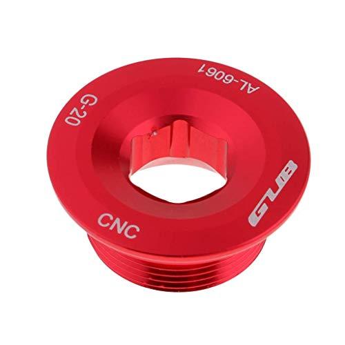 Inzopo Tornillo de fijación de brazo de manivela de aluminio, CNC M20 Tornillo MTB bicicleta soporte inferior tazas tapa para SHIMANO rojo