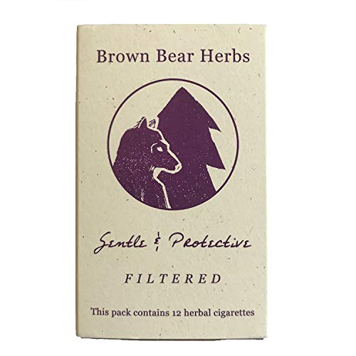 Brown Bear Herbs, Gentle and Protective, organic herbal smoking blend, filtered, NO tobacco, NO nicotine, made in USA