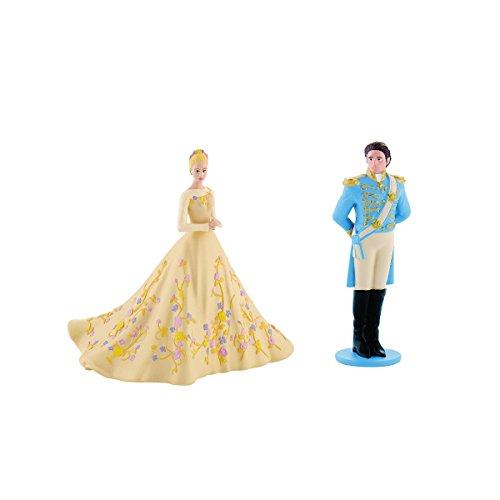 Bullyland 13050 + 13052 Walt Disney Cinderella im Hochzeitskleid und Märchenprinz