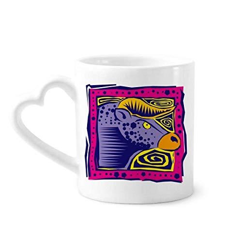 DIYthinker Konstellation Taurus Mexicon Kultur Gravieren Kaffeetasse Keramik Keramik-Schale mit Herzen Griff 12 Unzen Geschenk Mehrfarbig