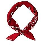 Hip Hop unisex banda para el cabello pequeño cuadrado de la bufanda de Headwear de la bufanda de cuello abrigo de la muñeca pañuelos para las mujeres y los hombres (rojo)