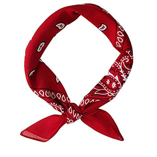 Hip Hop unisex banda para el cabello pequeño cuadrado de la bufanda de Headwear de la bufanda de cuello abrigo de la muñeca pañuelos para las mujeres y los hombres