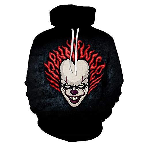 GEZIBABA Hoodies,Sweatshirt Skull Headr Man Sweatshirts Hooded Sweatshirts 3D Gedrukt Grappige Streetwear Herfst Jassen met Hooded Tracksuits