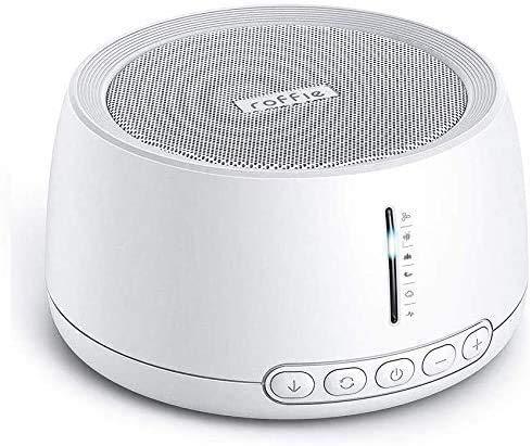 Roffie Sleep Sound-Maschine, 30 natürliche Sound-Therapie für Baby/Erwachsene, Timer- und Memory-Funktionen, Looping-Geräusche, tragbar für Kinderzimmer, Zuhause, Büro, Reisen, USB-Kabel/Wandladung
