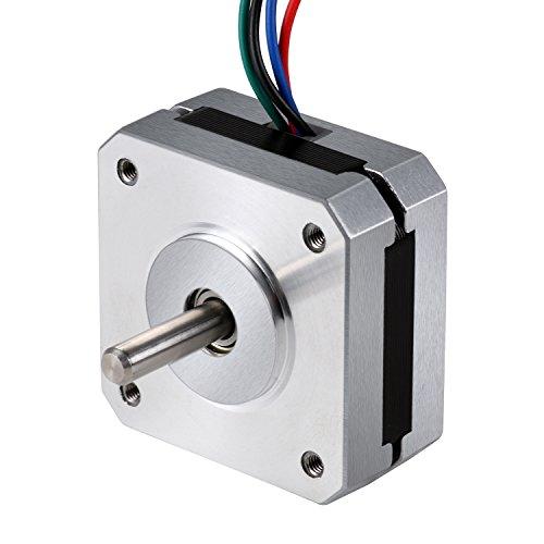 Amzdeal motore passo-passo 5 pezzi Nema 17 1.8/° veloce e preciso Stepper motore 1.5A 42NCM 4 Lead 1M Cable per stampante 3D