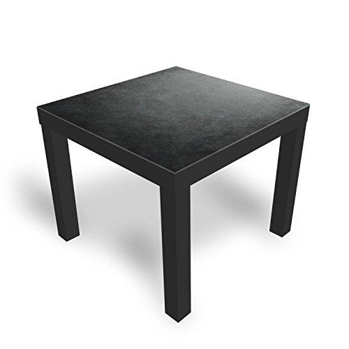 DekoGlas IKEA Lack Beistelltisch Couchtisch 'Granit' Sofatisch mit Motiv Glasplatte Kaffee-Tisch, 55x55x45 cm Schwarz