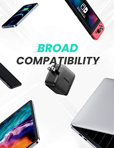 UGREEN USB C Ladegerät 65W Power Delivery mit GaN Tech USB C Netzteil USB C Charger kompatibel mit 13''MacBook Pro, MacBook Air, iPhone 11 Pro, Dell XPS 13, HP Spectre, Galaxy S20, AirPods Pro usw.