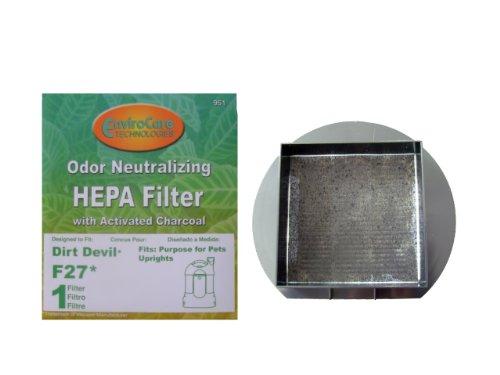 Royal Dirt Devil F 27 Filtre HEPA à charbon actif avec filtre à aspirateur, pour animaux de compagnie sans sac tous les aspirateurs verticaux, F27, 1LY2108000