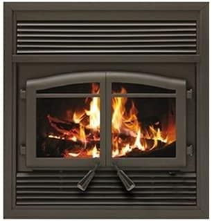 FL-063 Flame Monaco EPA Zero Clearance Fireplace with Black Louvers