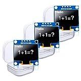 KeeYees OLEDディスプレイ OLEDモジュール 0.96インチ I2C 128X64 SSD1306 4ピン 白 Arduinoに対応 Raspberry Piに対応 3個入り