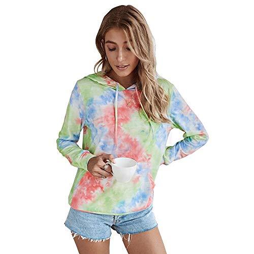 Sudadera Mujer con Capucha 2020 Tie-Dye Estampado Originals - Chica de Moda Suéter Otoño e Invierno Manga Larga - Vibrante Abrigos para Niñas y Mujeres