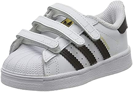 Adidas Superstar CF Jr, Zapatillas Deportivas Unisex bebé, Footwear White/Core Black/Footwear White, 23 EU