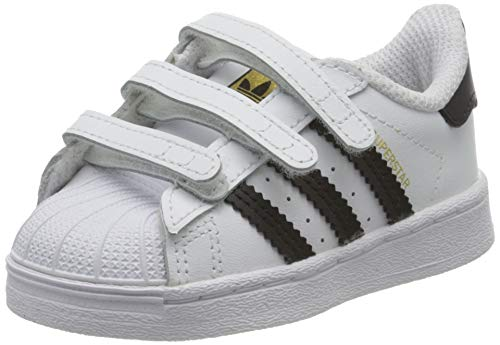 adidas Unisex-Child Superstar Sneaker, Footwear White/Core Black/Footwear White, 23 EU
