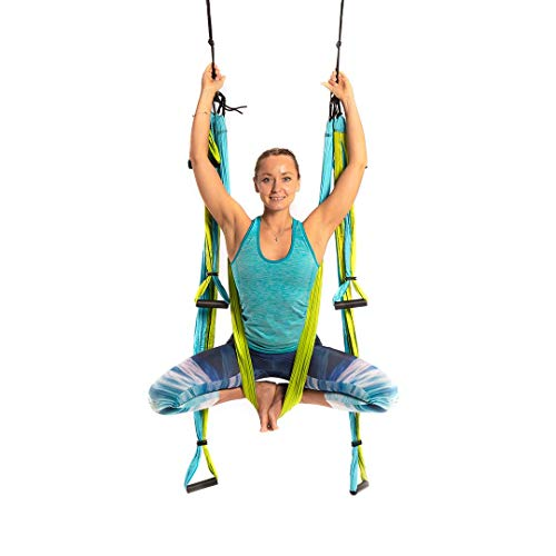 Discover Bargain Yoga Trapeze [official] – Yoga Swing/Sling/Inversion Tool, Blue/Green by YOGABODY...