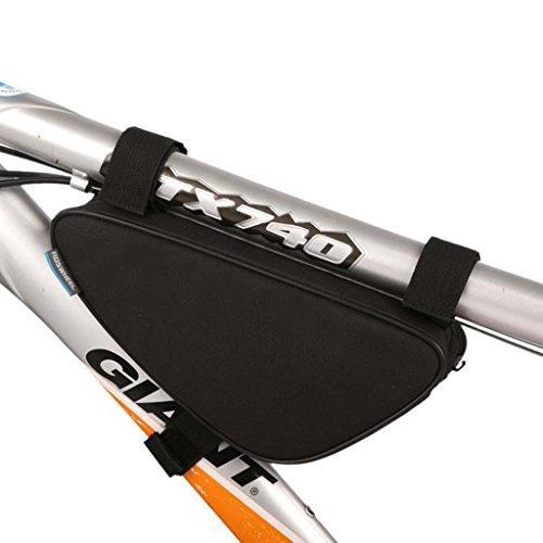 Tofern moda MTB BMX Bicicletta ciclismo Borse da telaio da bicicletta triangolo sacchetto 1,5L - Nero