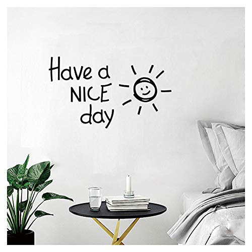 Bestjybt Have a Nice Day DIY Removable Decal Wall Sticker for Mirror Windows or Walls Decoration Decor
