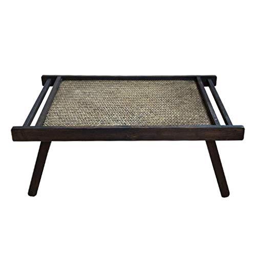 Escritorio de oficina en casa Sólida mesa de madera de bambú mesa en la terraza del café plegable antigua mesa de té mesa de té japonesa Tablas ventana de la bahía de mesa mesa baja rectangular Nest e
