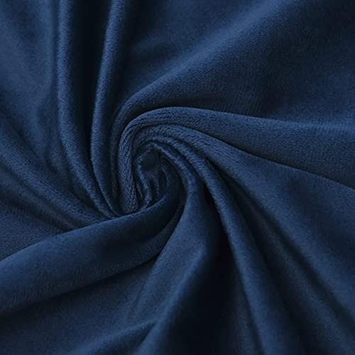 ZSYGFS 280 Cm De Ancho Tela De Terciopelo Suave para Coser De Chaquetas Decoración Decoración del Hogar Cortinas Tapicería Vestido Sillas Ropa Vendido por Metro(Color:Azul Oscuro)