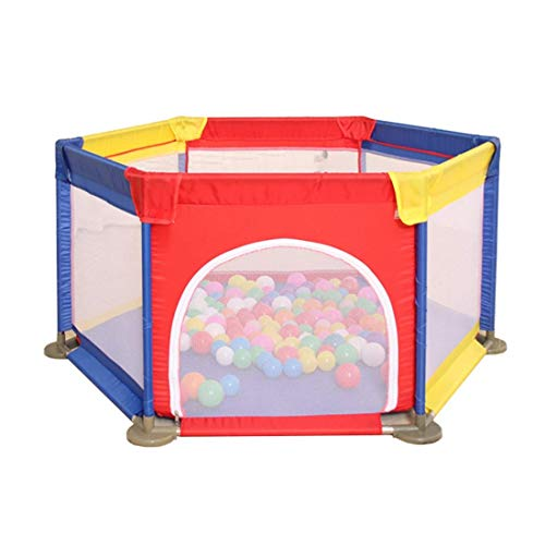 LHSUNTA Laufgitter 145CM sechseckig Babys Laufstall Kinderspielplatz Playard Toys Fallschutzzaun Sicheres Krabbeln