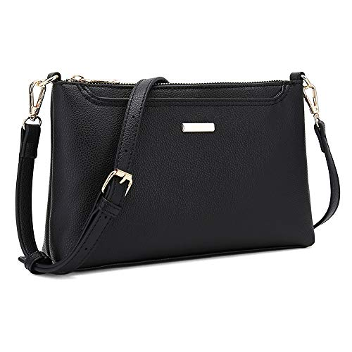 CATMICOO Small Crossbody Purses for Women, Lightweight Shoulder Bag with Multi-Pockets (Black)