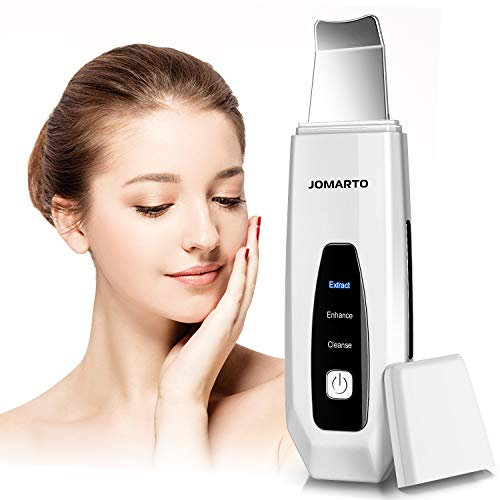 Ultrasonic Skin Scrubber Blackhead Spatula, JOMARTO Face Spatula, Facial Scrubber Spatula, Skin Spatula, Facial Ultrasonic Cleaner, Rechargeable Face Lifting Tool for Deep Cleansing