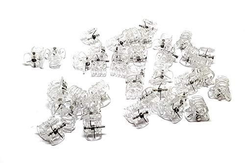 25 Mini Haarklammern, Hair Clips, Mädchen, Damen, Orchideen Klammern transparent 10x13