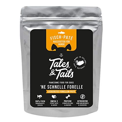 Tales & Tails Nassfutter für Hunde I Zutaten: 100% Forelle I Monoprotein I getreidefrei, zuckerfrei I 300g Pouch I Sorte: Forelle
