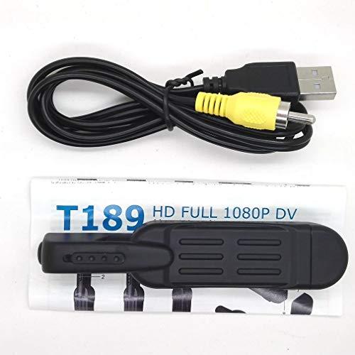 Full HD 1080P Mini DV DVR Bolsillos Grabar Pluma Cámara T189 Video Grabadora de Voz Negro