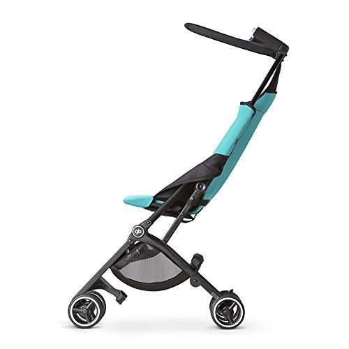 gb Pockit Ultra Compact Lightweight Travel Stroller in Capri Blue, The World's Smallest Folding Stroller
