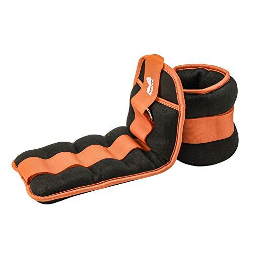 REEHUT Pesi da Caviglia/Polso (1 Paio) con Cinturino Regolabile per Fitness, Esercizio Fisico, Passeggiate, Jogging, Ginnastica, Aerobica, Palestra - Arancione – 2x1,36kg