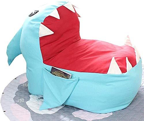 LIjiMY Silla Beanbag Grande Gigante Gigante Enorme tiburón Relleno de Peluche Peluche Suave Juguete Almohada sofá beanbag Lazy Sofa (Color: Azul, Tamaño: Un tamaño) (Color : Blue, Size : One Size)