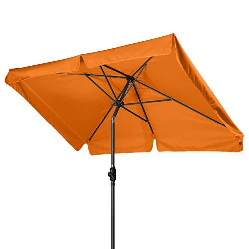 Derby Basic Lift NEO 210x140 – Kurbel Sonnenschirm ideal für den Balkon – Höhenverstellbar – ca. 210x140 cm – Umbra