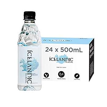 Icelandic Glacial Natural Spring Alkaline Water 16.9 Fl Oz  Pack of 24