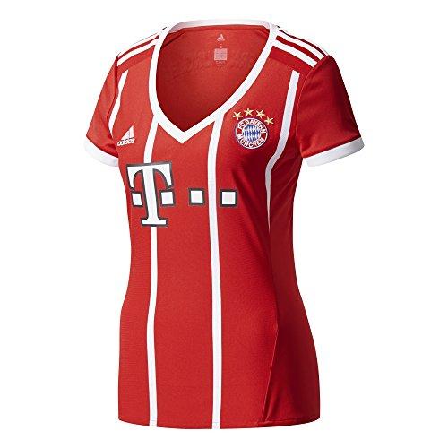 adidas FC Bayern München Home Replica Jersey Women 2017/18 Camiseta de equipación-Línea Munich, Mujer, Rojo (rojfcb/Blanco), XL