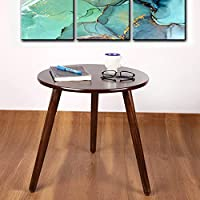 Vudy Round Coffee Table with Tripod Legs|Side Table|End Table|Portable Tables for Living Room Decor |Center Table Decor...