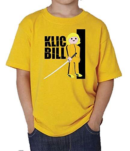 The Fan Tee Camiseta de NIÑOS Click Playmobil Kill Bill 001 3-4 años