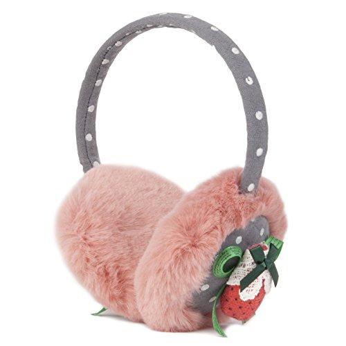 Momo Grow Mädchen & Damen Winter Ohrenschützer Zubehör (Erwachsene & Kinder) - Pink - Einheitsgröße