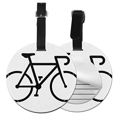 Kofferanhänger PU Leder Einfache Fahrrad Rennräder, Gepäckanhänger ID Etikett Mit Adressschild Namenschild für Reisetasche Koffer