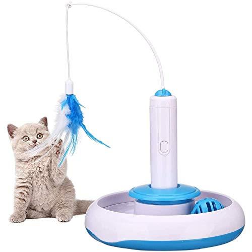 Juguete interactivo para gatos en interiores Juguete de remolque de 360 grados;...