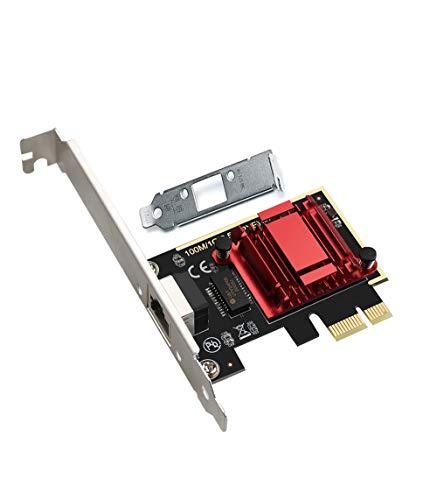 RTL8125B Adattatore di rete PCIe 2.5GBase-T 2500/1000/100Mbps PCI Express Gigabit scheda Ethernet RJ45 LAN Controller, supporta PXE per Windows/Linux/MAC, con basso profilo