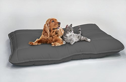 Maxy Cuscinone per Cani Imbottito 60x100cm grigio scuro