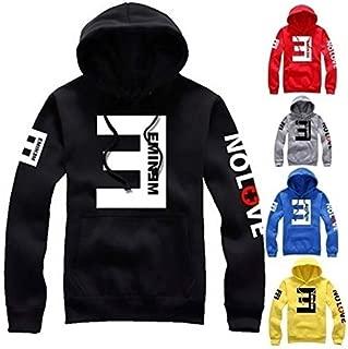 Hylong Eminem Anti-E Hip-hop Fashion Fleece Hoodie Sweaters Yellow XL