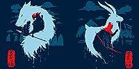 もののけ姫 サン アシタカ. 数字キット塗り絵 手塗り DIY絵 デジタル油絵 (フレームレス,30x45cm)