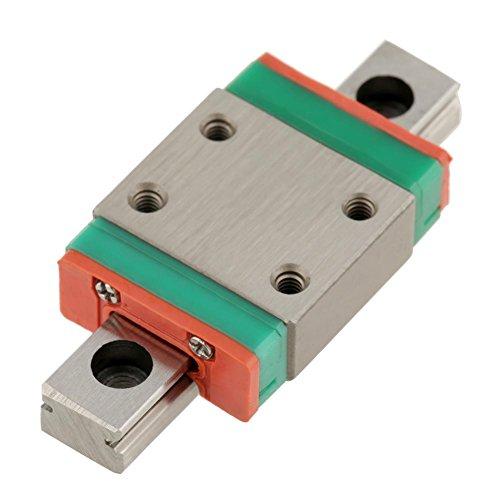 Miniatuur lineaire geleiderail, LWL7B Mini Lineair Rail Guide, 40mm lineaire schuifdeur Gide 7mm breedte met een glijbaan blok voor DIY 3D-printer, CNC-machine etc, anti-roest, hoge precisie (40mm)